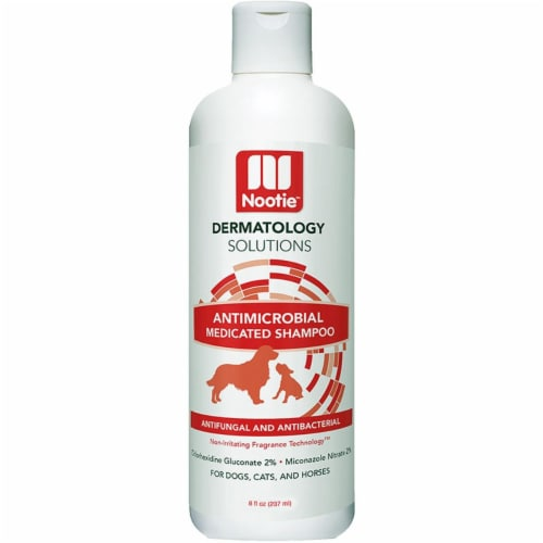 Nootie 811048021441 8 oz Dog Cat Medicated Shampoo Lilly Perspective: front