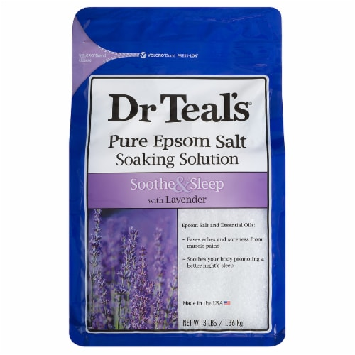 Dr Teal's Soothe & Sleep Pure Epsom Salt with Lavender Soaking Solution Perspective: front