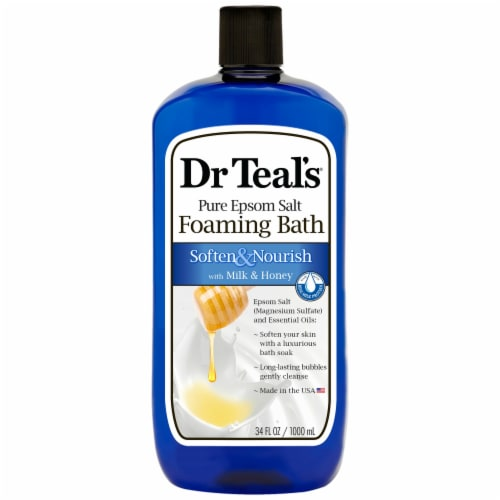 Dr Teal's Soften & Nourish Foaming Milk Bath Perspective: front