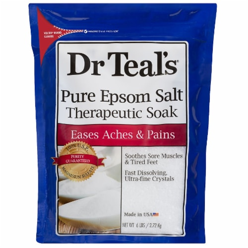 Dr Teal's Unscented First Aid Pure Epsom Salt Therapeutic Soak Perspective: front