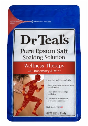 Dr Teal's Wellness Therapy Pure Epsom Salt Soaking Solution Perspective: front