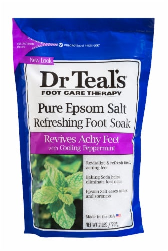 Dr Teal's Peppermint Epsom Salt Refreshing Foot Soak Perspective: front