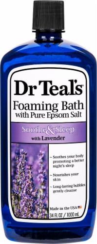 Dr Teal's Soothe & Sleep Lavender Epsom Salt Foaming Bath Perspective: front