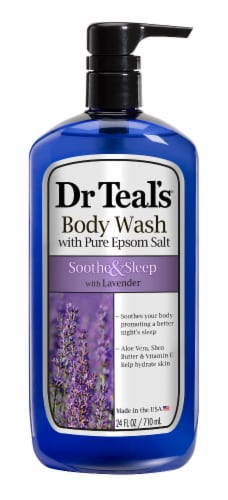Dr Teal's Pure Epsom Salt Soothe & Sleep Lavender Body Wash Perspective: front