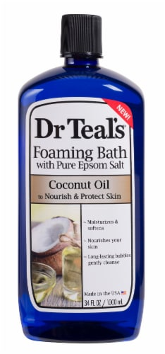 Dr Teal's Coconut Oil Foaming Bath With Pure Epsom Salt Perspective: front