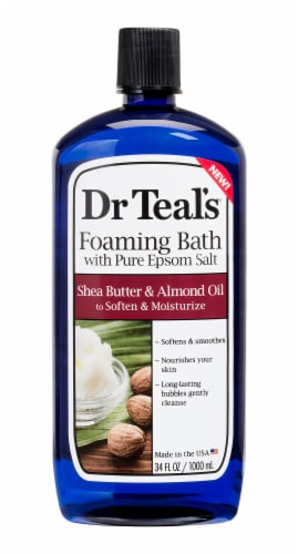 Dr Teal's Shea Butter & Almond Oil Foaming Bath Perspective: front