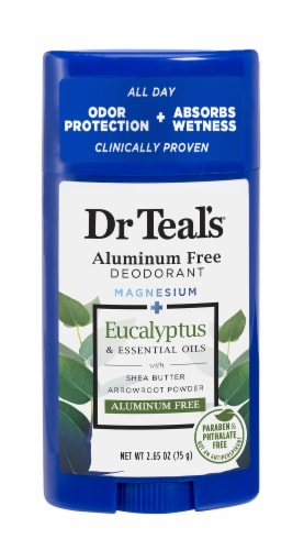 Dr Teal's Eucalyptus Spearmint Aluminum-Free Deodorant Perspective: front