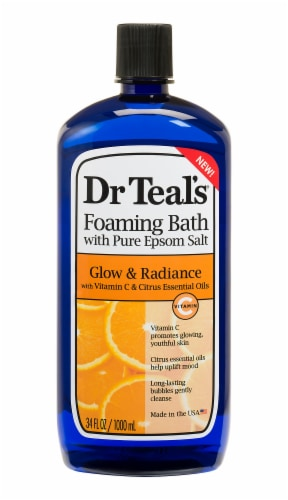 Dr Teal's Glow & Radiance Foaming Bath with Pure Epsom Salt Perspective: front