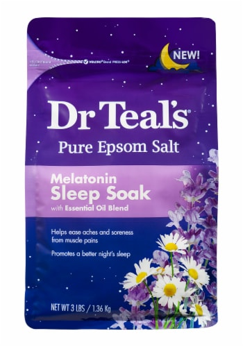 Dr Teal's Epsom Salt Melatonin Sleep Soak Perspective: front