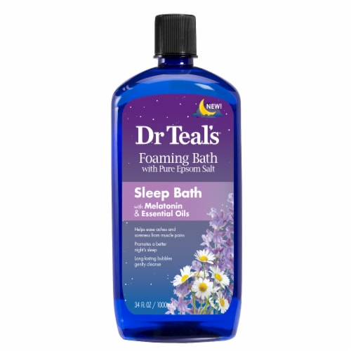 Dr Teal's Sleep Bath with Melatonin & Essential Oils Foaming Bath Perspective: front