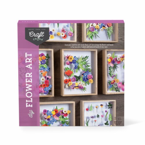 Craft Crush DYO Flower Art Perspective: front