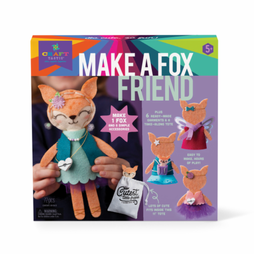 Craft-tastic Make A Fox Friend Kit Perspective: front