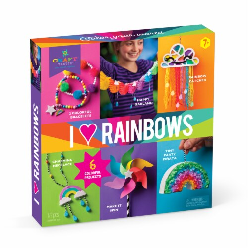 Craft-tastic I Love Rainbows Craft Kit Perspective: front