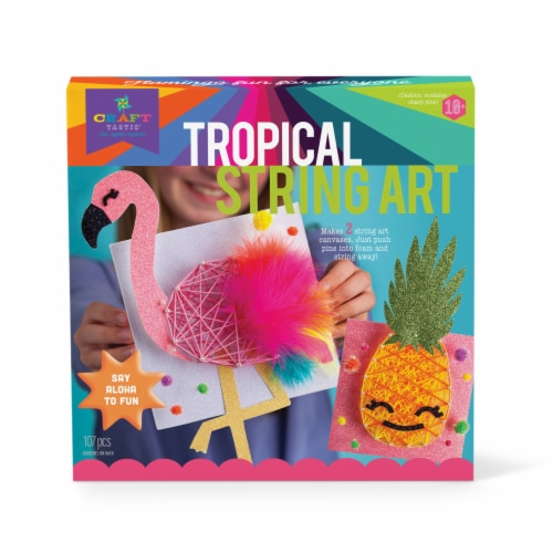 Craft-Tastic Tropic String Art Kit Perspective: front