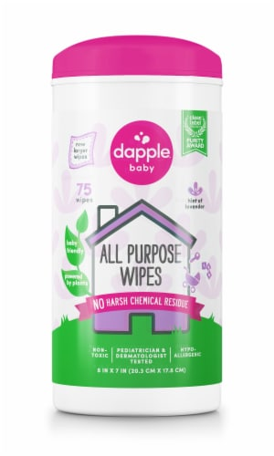 Dapple Lavender All Purpose Wipes Perspective: front