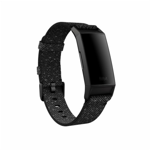 Fitbit Charge 4 Granite Woven Band Fitness Tracker Perspective: front