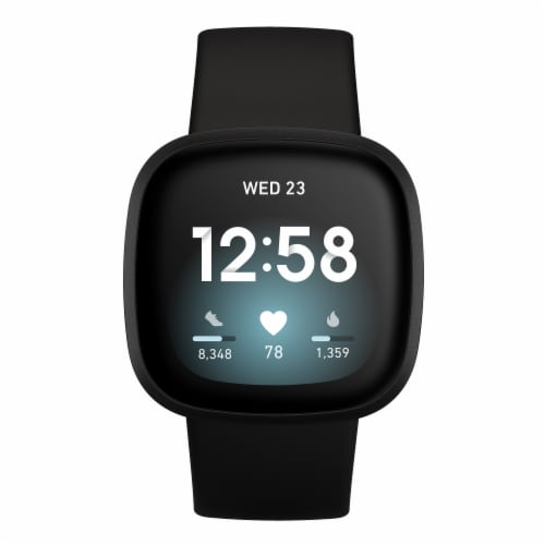 Fitbit Versa 3 -  Black Perspective: front