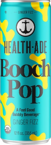 Health-Ade Ginger Fizz Booch Pop Perspective: front