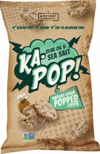Ka-Pop! Olive Oil & Sea Salt Ancient Grain Popped Chips Perspective: front
