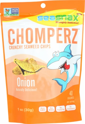 SeaSnax Chomperz Crunchy Seaweed Chips Perspective: front