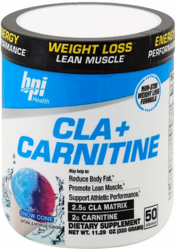 bpi Health Snow Cone CLA + Carnitine Perspective: front