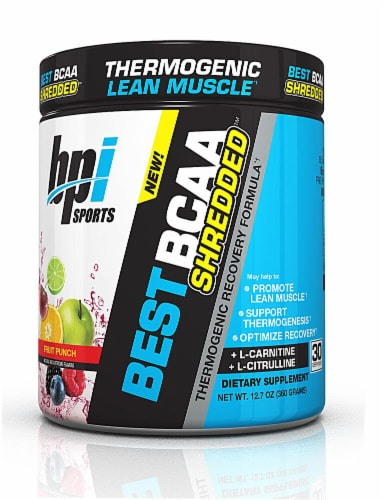 BPI  Sports Best BCAA SHREDDED™   Fruit Punch Perspective: front