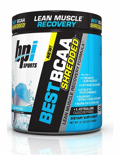 BPI  Sports BEST BCAA SHREDDED™   Snow Cone Perspective: front