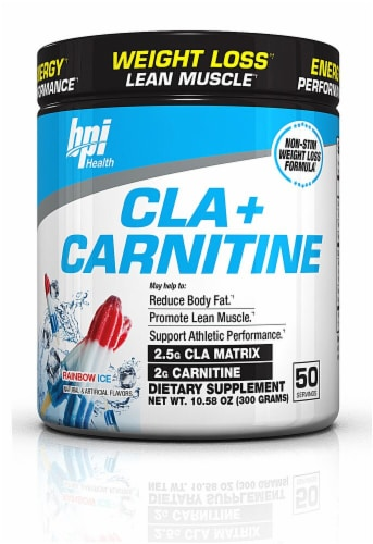 BPI  Sports CLA plus Carnitine   Rainbow Ice Perspective: front