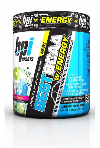 BPI  Sports Best BCAA™  with Energy   Sour Candy Perspective: front