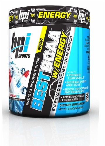 BPI  Sports Best BCAA™ with Energy   Rainbow Ice Perspective: front