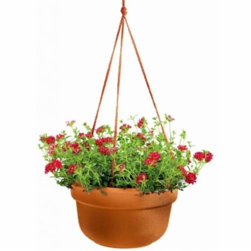 Bloem 12in Dura Cotta Hanging Basket Terra Cotta Perspective: front
