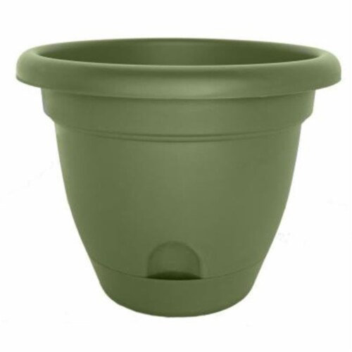 Bloem LP1042 10 in. Lucca Planter, Living Green Perspective: front