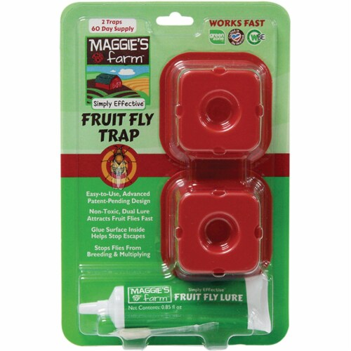Maggie's Farm Indoor Fruit Fly Trap (2-Pack) MFFT002 Perspective: front