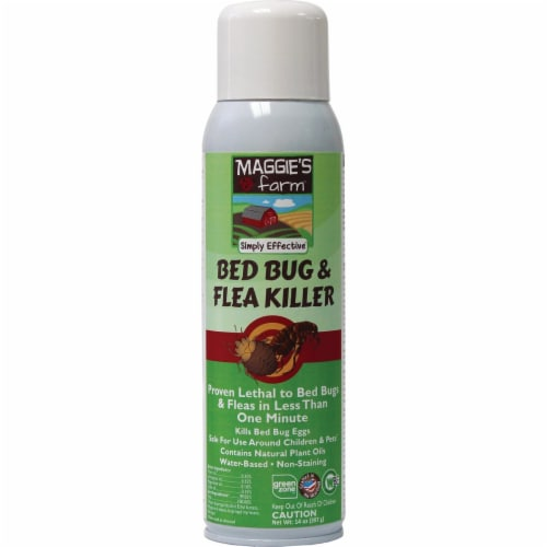 Maggie's Farm 14 Oz. Aerosol Spray Bedbug & Flea Killer MBFK014 Perspective: front