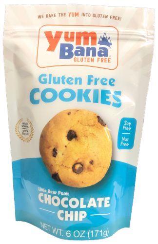 Yumbana Gluten Free Chocolate Chip Cookies Perspective: front