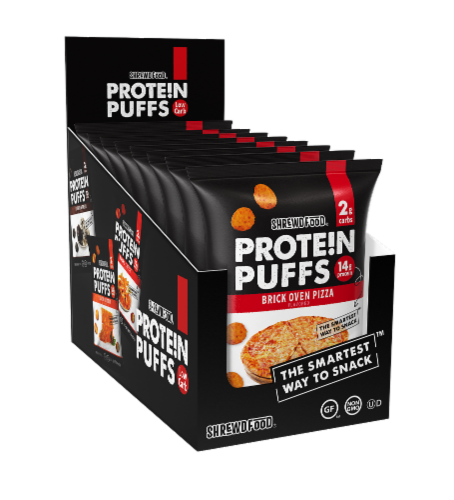Shrewd Food Brick Oven Pizza Protein Puffs Perspective: front