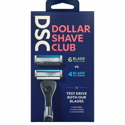 Dollar Shave Club Mixed Razor Starter Kit Perspective: front