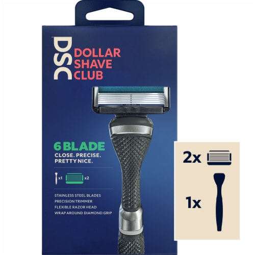 Dollar Shave Club Razor Starter Kit Perspective: front