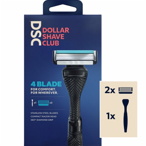 Dollar Shave Club 4 Blade Razor Starter Kit Perspective: front