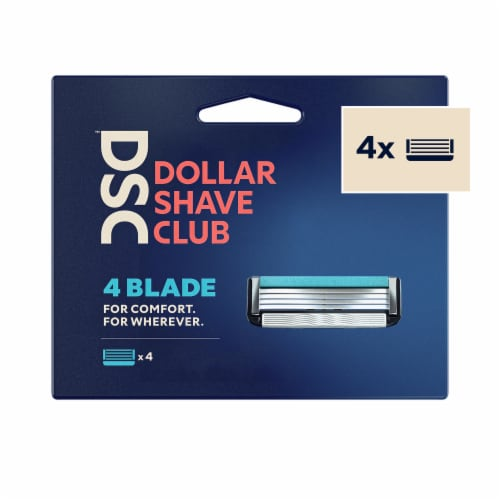 Dollar Shave Club 4 Blade Razor Refill Cartridges Perspective: front