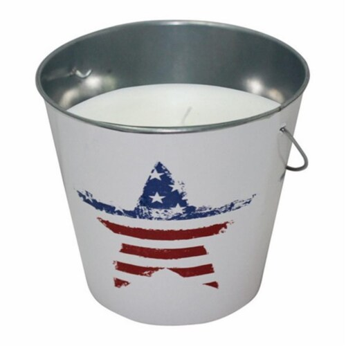 Patio Essentials 21092US 18 oz USA Flag Design Mosquito Repellent Bucket - pack of 6 Perspective: front