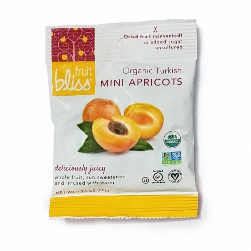 Fruit Bliss Organic Mini Apricots Perspective: front