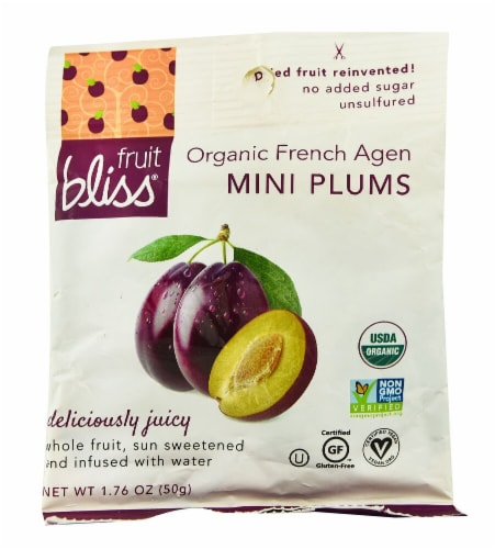 Fruit Bliss  Organic French Agen Mini Plums Perspective: front