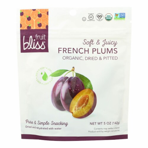 Fruit Bliss - Organic French Agen Plums - Plums - Case of 6 - 5 oz. Perspective: front