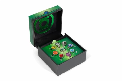 DC Comics Green Lantern Power Rings Emotional Spectrum Power Rings | 9 Ring Set Perspective: front