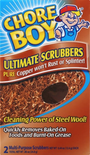 Chore Boy Ultimate Copper Scrubbers Perspective: front