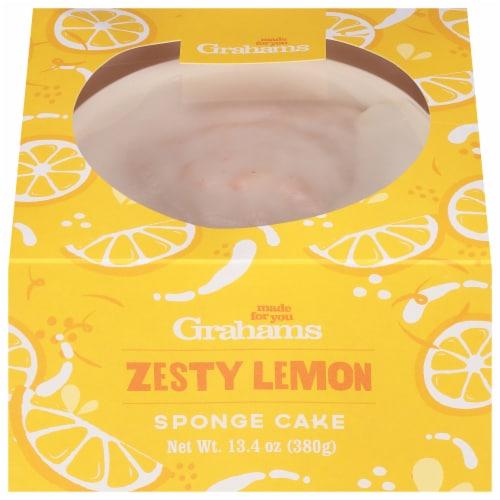 Graham's Zesty Lemon Sponge Cake Perspective: front