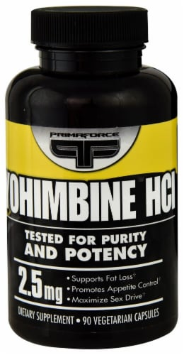 Primaforce Yohimbine HCl 2.5mg Vegetarian Capsules Perspective: front