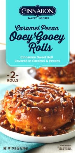 Cinnabon Ooey-Gooey Caramel Pecan Cinnamon Sweet Rolls Perspective: front