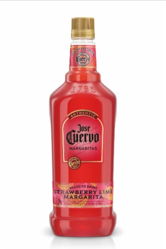 Jose Cuervo Authentic Strawberry Lime Ready to Drink Margarita Perspective: front